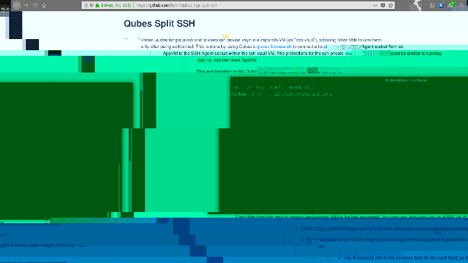 Using GIT in Qubes 4 (with Split SSH and Split GPG)